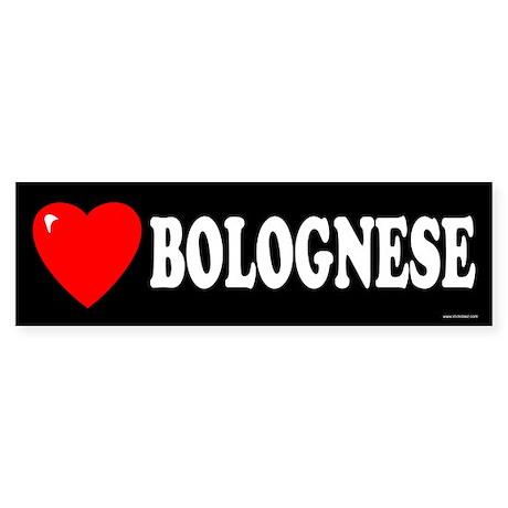 BOLOGNESE Bumper Sticker