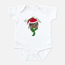 Kicking Spirit Happy Holidays A Infant Bodysuit