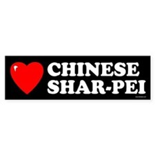 CHINESE SHAR-PEI Bumper Bumper Sticker