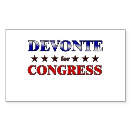 DEVONTE for congress Rectangle Sticker