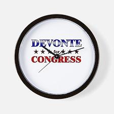 DEVONTE for congress Wall Clock