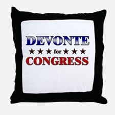 DEVONTE for congress Throw Pillow
