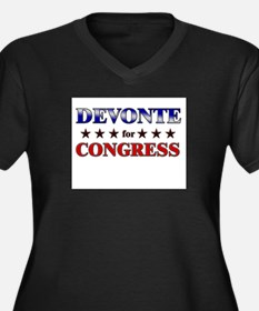 DEVONTE for congress Women's Plus Size V-Neck Dark