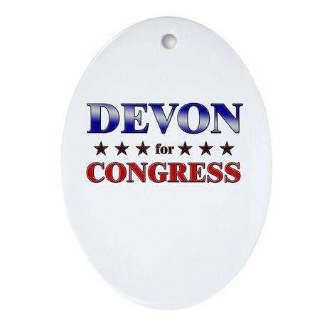DEVON for congress Oval Ornament