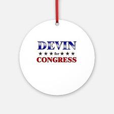 DEVIN for congress Ornament (Round)