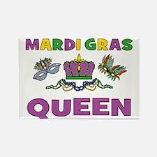 Mardi Gras Queen Rectangle Magnet