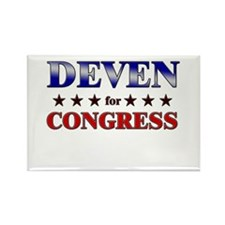 DEVEN for congress Rectangle Magnet