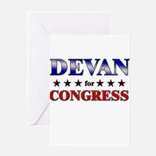 DEVAN for congress Greeting Card