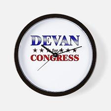 DEVAN for congress Wall Clock