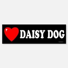 DAISY DOG Bumper Bumper Bumper Sticker