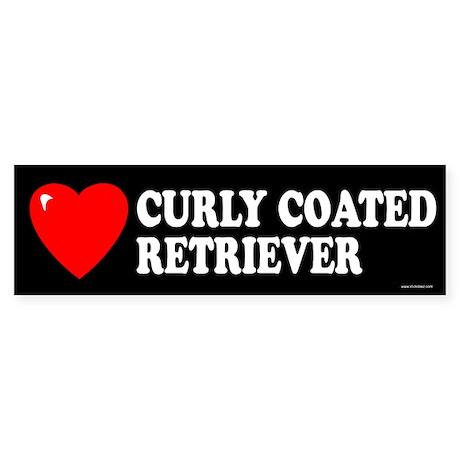 CURLY COATED RETRIEVER Bumper Sticker