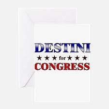 DESTINI for congress Greeting Card