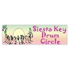 Siesta Key Drum Circle Bumper Bumper Sticker
