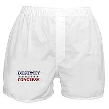 DESTINEY for congress Boxer Shorts