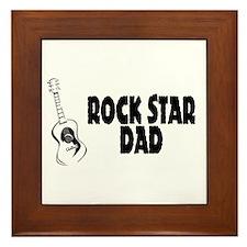Rock Star Dad Framed Tile