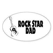 Rock Star Dad Oval Decal