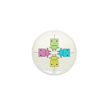 Robot Mini Button (10 pack)