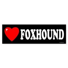 FOXHOUND Bumper Car Sticker
