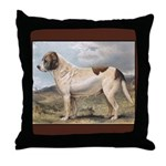 Antique St Bernard  Throw Pillow