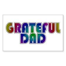 Grateful Dad Rectangle Decal