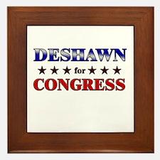 DESHAWN for congress Framed Tile