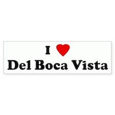I Love Del Boca Vista Bumper Bumper Sticker