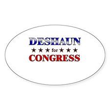 DESHAUN for congress Oval Decal