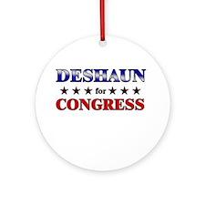 DESHAUN for congress Ornament (Round)