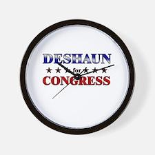 DESHAUN for congress Wall Clock