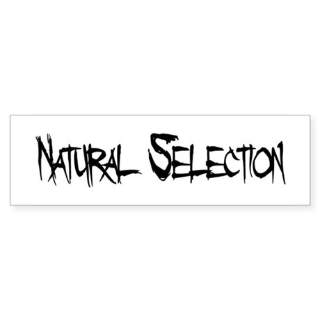 Natural Selection Bumper Sticker