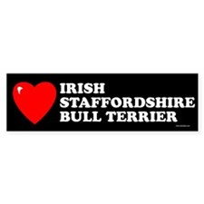 IRISH STAFFORDSHIRE BULL TERRIER Bumper Bumper Sticker