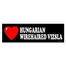HUNGARIAN WIREHAIRED VIZSLA Bumper Car Sticker