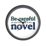 End Up in My Novel Wall Clock