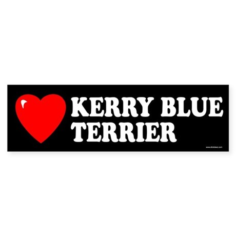 KERRY BLUE TERRIER Bumper Sticker