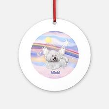 Bichon Nicki Angel (#2) Ornament (Round)