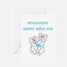 Bears Grandmas Sweet Baby Boy Greeting Card