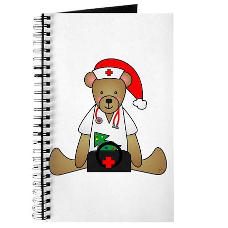 Christmas Nurse Bear Journal