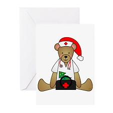 Christmas Nurse Bear Greeting Cards (Pk of 10)