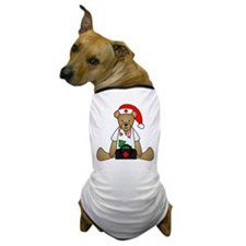 Christmas Nurse Bear Dog T-Shirt