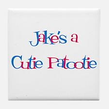 Jake's a Cutie Patootie Tile Coaster