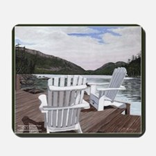 Kicking Back at Jordan Pond Scenic Mousepad