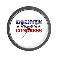 DEONTE for congress Wall Clock