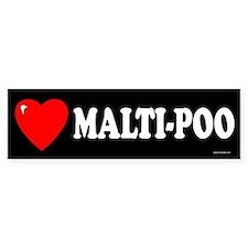 MALTI-POO Bumper Bumper Sticker