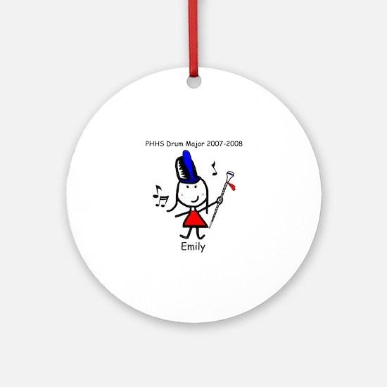 Drum Major - Emily Ornament (Round)