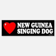 NEW GUINEA SINGING DOG Bumper Bumper Bumper Sticker