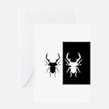 Stag Beetles Greeting Cards