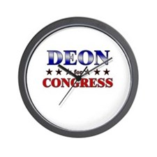 DEON for congress Wall Clock