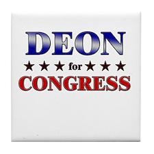 DEON for congress Tile Coaster