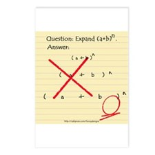 """Expand (a+b)n"" Postcards (Package of 8)"