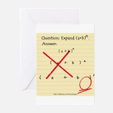 """""""Expand (a+b)n"""" Greeting Cards (Pk of 10)"""